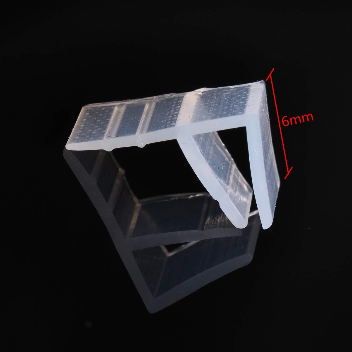 dDanke - Tira de Sellado Flexible para mampara de Ducha (2 m de Longitud, para Cristal de 6-12 mm), 6 mm: Amazon.es: Hogar