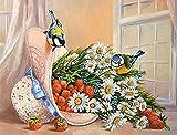 Puzzle-Flor de pájaro Rompecabezas para Adultos Niños 500 Piezas Juego de Rompecabezas de Madera para Regalos Decoración del hogar 52x38cm