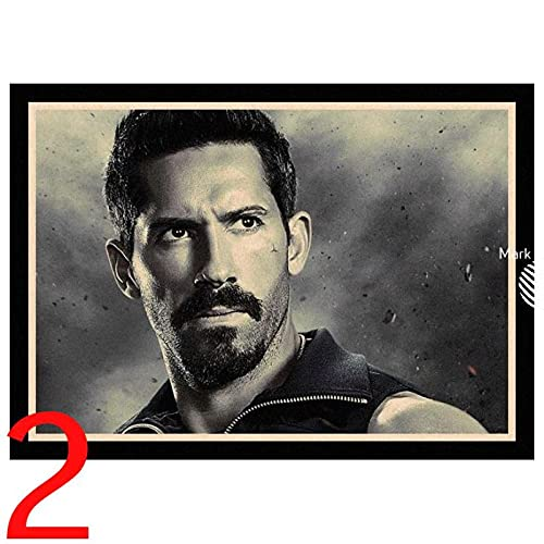 Perfect JL Boyka Undisputed Scott Adkins Retro Poster Canvas Painting Wall Art Poster Immagini Poster E Stampe 50X70Cm Ig-2937