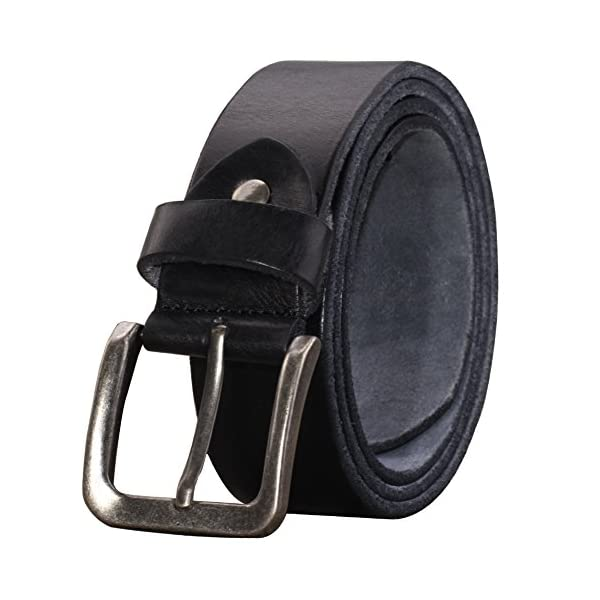 PAZARO Men's Soft Top Grain 100% Leather Belt