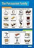 Daydream Education Schlaginstrumente | Musikposter | Glanzpapier mit den Maßen 850 mm x 594 mm (A1) | Musikkarten für das Klassenzimmer | Bildungstabellen von Daydream Education