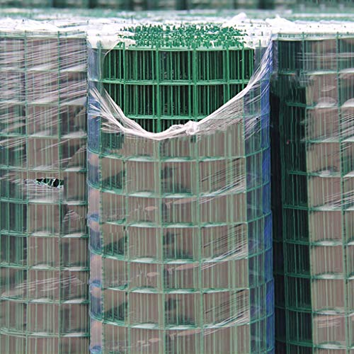30m Zaundraht PVC-beschichtetes Zaun, Border Stahlgitter Stahlgitter Maschendraht Nets für Tier Zaun & Gemüseschutz (Size : 2.1mm Mesh Diameter)