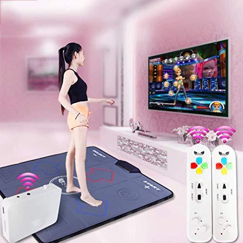 YUHT Drahtlose Kindertanzmatte, tragen Sie Resistant Dance Revolution Faltbares Tanzpad Massage Fußtanzdecke HD-TV-Computer Dual-Use-Schwarz 93x81cm (37x32inch) Tanzmatte