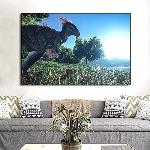 Puzzle 1000 teile Ark Survival Evolved Dinosaur Hit Neues Spiel Kunst Bild für puzzle 1000 teile Pädagogisches intellektuelles Dekomprimieren von Spielzeugrätseln Lustiges Familien50x75cm(20x30inch)