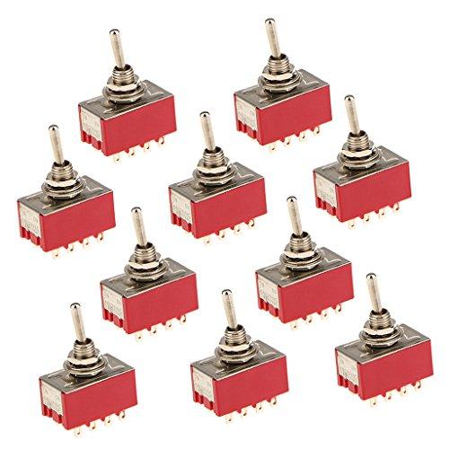 Almencla 125VAC 6A, 250VAC 2A Encendido/Encendido 12 PIN 4PDT