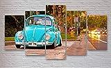 Yywife Bilder leinwandbilder 5 teilig Malerei VW Käfer