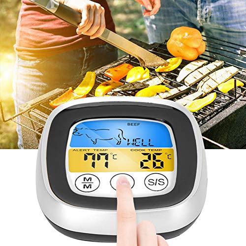 【𝐖𝐞𝐢𝐡𝐧𝐚𝐜𝐡𝐭𝐬𝐠𝐞𝐬𝐜𝐡𝐞𝐧𝐤】Easy Absorptionsthermometer, LED-Anzeige ABS-Küchenthermometer, mit Halterung und Magnet Lebensmittelindustrie für die Haushalts- und Kühlheizung