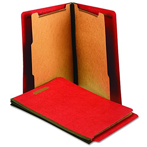 Universal One Reinforced End Tab File Jacket, Bright Red (10320)