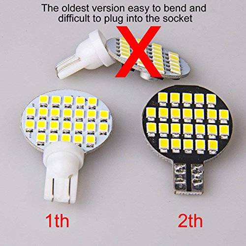 20 x Super Bright T10 921 194 LED Bulb For RV Trailer Camper Motorhome Boat Ceiling Dome Interior Light 12V 24-SMD Natural White Wedge Lamp (Pack of 20)