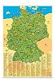 """Erlebniskarte """"Illustrierte Deutschlandkarte"""" mit Metallbeleistung"""