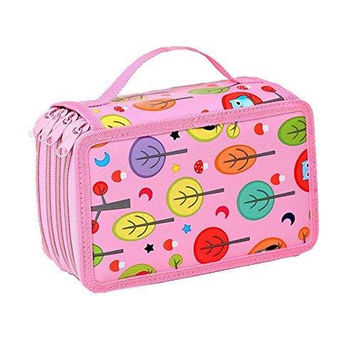 OFKPO Lápiz Bolsas de Gran Capacidad,Caja De Lápiz Multifuncional de Gran Capacidad,Pen Bag,Pencil Case,con Cremallera