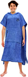 Lightahead Cotton Surf Beach Hooded Poncho Changing Bath Robe Towel with Pocket (Blue) (Teens)