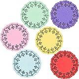 Blondas de encaje de papel redondas (6 colores, 600 unidades)