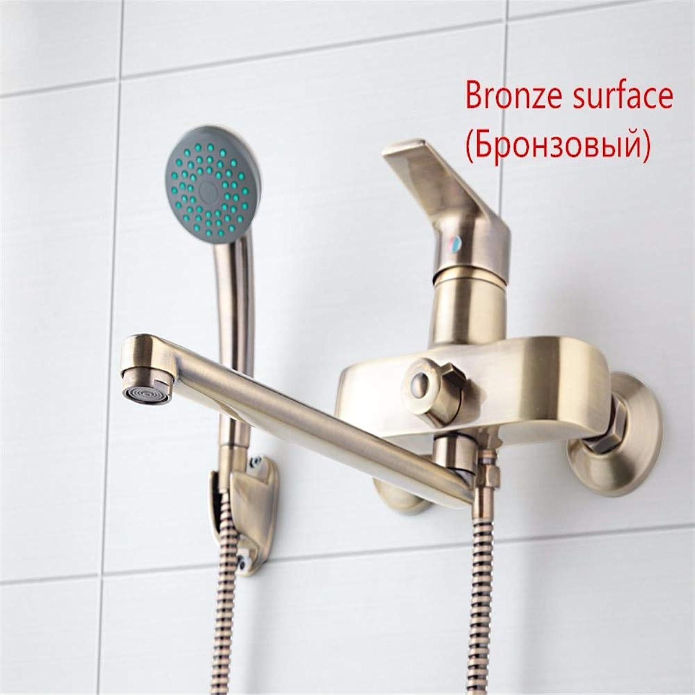 Duschkopf Handbrause Bronze Farbe Wandmontage Messing Bad Wasserhahn Badewanne Mixer Mit Handbrause Wasserhhne Hochdruck Und Wassereinsparung, Aber Robust In Der Strke
