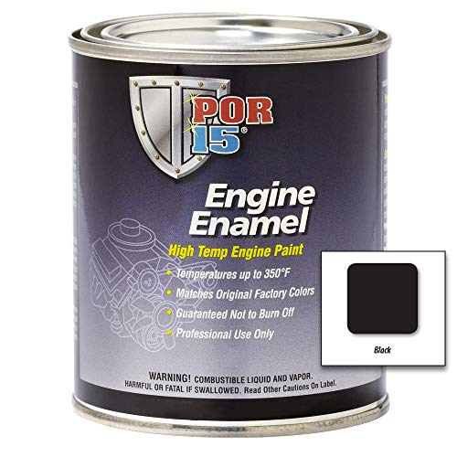 POR-15 42034 Black Engine Enamel - 1 quart