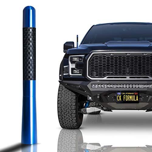 "CK FORMULA 4.7"" Navy Truck Antenna - Carbon Fiber Screw Type Automotive Antenna Replacement, AM/FM Radio Compatibility, Aluminum and Internal Copper Coils, Car Wash Safe, Universal Fit, 1 Piece"