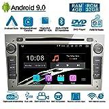 Ohok Android 9.0 Autoradio 2 Din pour OPEL Vauxhall Astra Antara Vectra 8 Core Stéréo Unité de tête 4G+32G Sat Nav lecteur de...