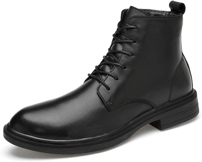 precios ultra bajos BND-zapatos , Botines de de de Moda para Hombre Casual Cómodo de Piel de Vaca Alto Top botas Simples (Warm Velvet Opcional) Durable; soportar Desgaste (Color   Negro, tamaño   46 EU)  Seleccione de las marcas más nuevas como