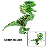 CHTH Kids Large Size Dilophosaurus Dinos Toy Dinosaur Building Blocks Toy 11 Inches