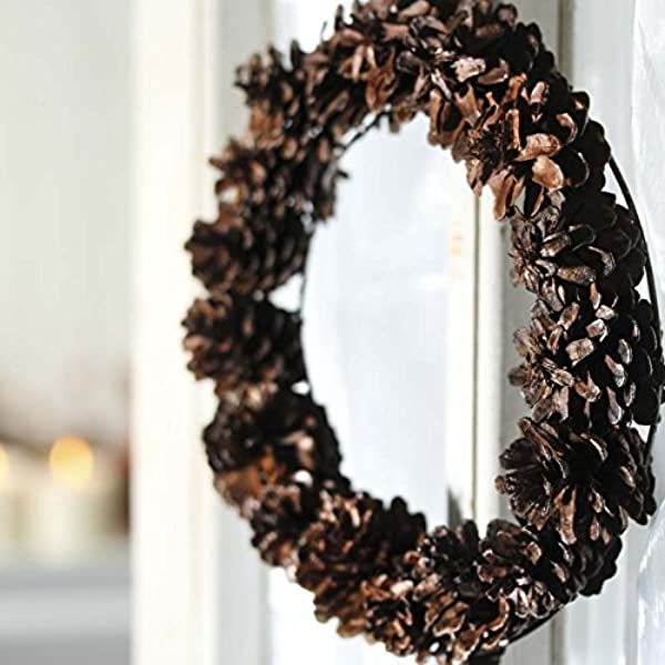 Factory Direct Craft Group Of 4 Natural Pinecone Wreath For Home Decor Crafting And Displaying