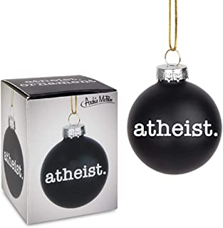 Archie McPhee Atheist Holiday Glass Ornament in Black 2