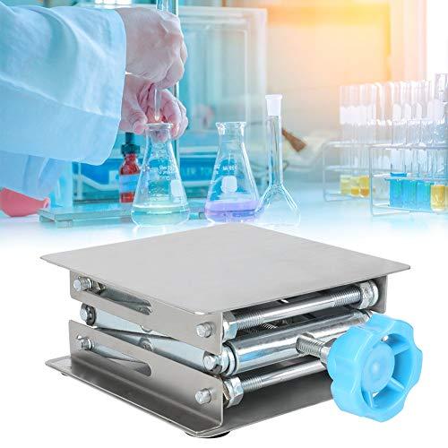 Hubtisch, Edelstahl-Laborheber Manuell verstellbarer Laborstandtisch Laborhebebühne Experimentierwerkzeug