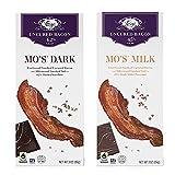 Vosges Milk & Dark Chocolate Bacon Candy Bars (2 Pack) - Mo's Milk Chocolate Bacon Bar + Mo's Dark Chocolate Bacon Bar