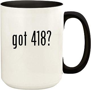 got 418? - 15oz Ceramic Colored Handle and Inside Coffee Mug Cup, Black