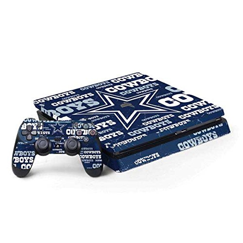 Skinit Decal Gaming Skin Compatible with PS4 Slim Bundle - Officially Licensed NFL Dallas Cowboys Blast Design