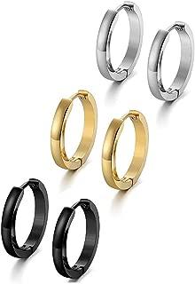 Best tiny hoop earrings for men Reviews