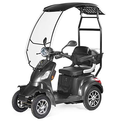 VELECO seniorenmobiel 4-wiel elektrische scooter met een dak 1000W FASTER grijs…