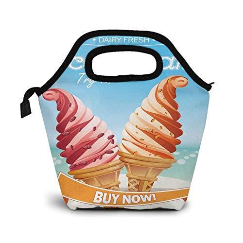 Bolsa Térmica Comida Bolsas De Almuerzo para Mujeres Hombres Niñas Niños Bolsa Isotérmica De Almuerzo Helado 10