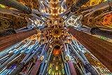 Phinli Rompecabezas para Adultos España Sagrada Familia Barcelona Puzzle 1000 Piezas Recuerdo De Viaje De Madera