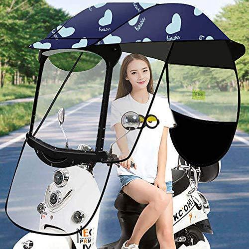 FangXiao Sombrilla para Bicicleta Eléctrica, Cubierta para Lluvia, Sombrilla Universal para Scooter De Motor para Automóvil, Sombrilla para Movilidad, con Parabrisas De PVC,4