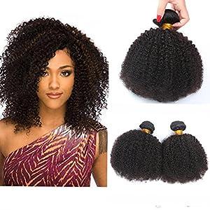 Morningsilkwig 1Paquetes Pelucas de Cabello Afro 100g/piece Cabello Humano Hindú Negro Color Pelo Humano Brasileño
