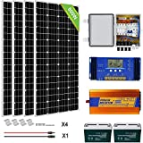 ECO-WORTHY 800 Watts Solar Panel Kit with Battery and Inverter Off Grid Solar Power Kit for Home,...