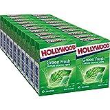 Hollywood Greenfresh - Chewing-gum sans sucres parfum Menthe Verte - Lot de 20x10 dragées