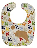Caroline tesoros del Pawprints bebé babero multicolor Red Border Collie Talla:L