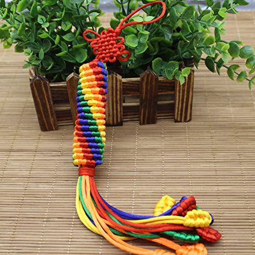 DBDCH Opknoping Decoratie Draai jie gua jian Vijf kleuren Gebed Wiel Auspicious Jingang jie gua jian Auto Hanger