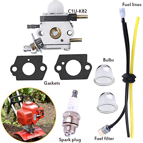 Review Of Puomue C1U-K82 Carburetor Repower Kit Fuel Filter and Gasket for 2 Cycle Mantis Tiller Cul...