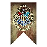 """Harry Potter Hogwarts House Banners Wall Flags, Ultra Premium Complete Double Layered Indoor Outdoor Party Flag - Gryffindor, Slytherin, Hufflepuff, Ravenclaw - 30""""X 50"""""""
