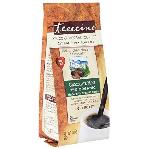Teeccino - Light Roast Naturalmente sin Cafeína Café Herbal Chocolate Menta - 11 oz.