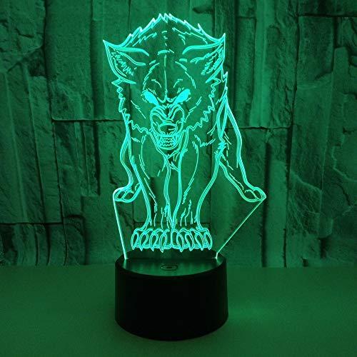 BFMBCHDJ Nueva lámpara escritorio 3D Wolf Control