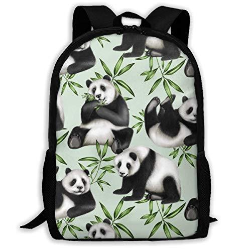 XCNGG La Mochila de Viaje Impresa bambú de la Panda, la Bolsa para portátil Ligera Impermeable Tiene Dos Bolsillos Laterales