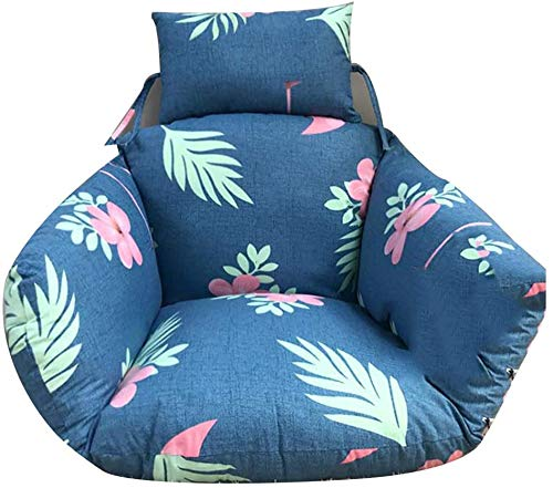 MGEE Chair Cushion Hanging Egg Hammock, Thickened Removeable Nest Hanging Chair Back with Pillow Bean Bag for Kids Home Garden(Color:A,Size:65x60x55cm(26x24x22inch))
