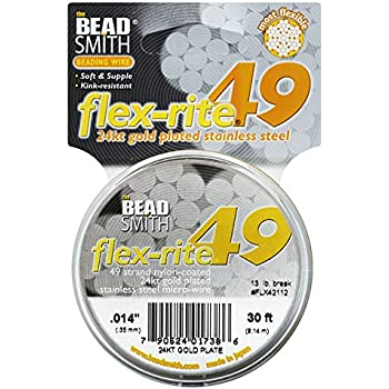 BeadSmith XCR-1213 21 Strand Thick Spool Flex-Rite Beading Wire Clear.014//30