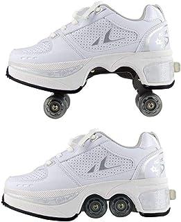أحذية تزلج دوارة للنساء والرجال والأولاد والأطفال أحذية رياضية قابلة للتشوه ذات 4 عجلات تصلح كهدية للمبتدئين للجنسين, 39