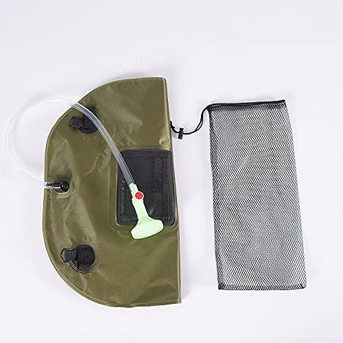 Ajing Bolsa de ducha para camping, bolsa de ducha con energía solar, 5 galones, plegable, portátil, útil bolsa de almacenamiento de agua, para viajes al aire libre, senderismo, playa, natación, PVC
