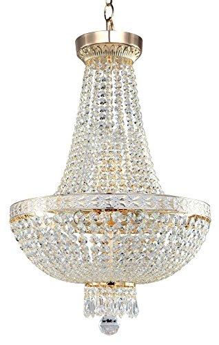 Lámpara de suspensión de techo, lustro de Cristales estilo barroco, classico,de metal...
