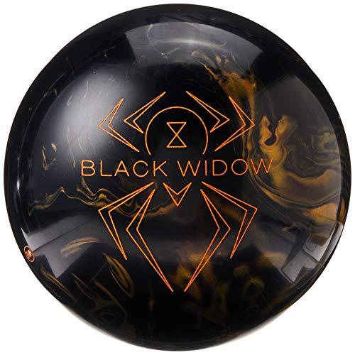 Hammer Bowling Products Black Widow Bowling Ball- Black/Gold, 14lbs